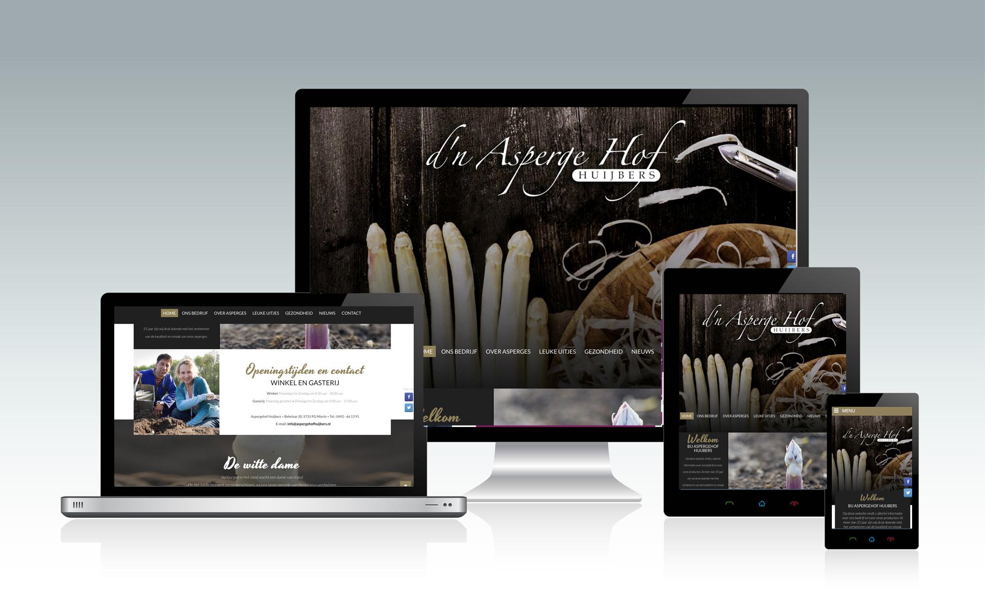 Website Hof van Huijbers