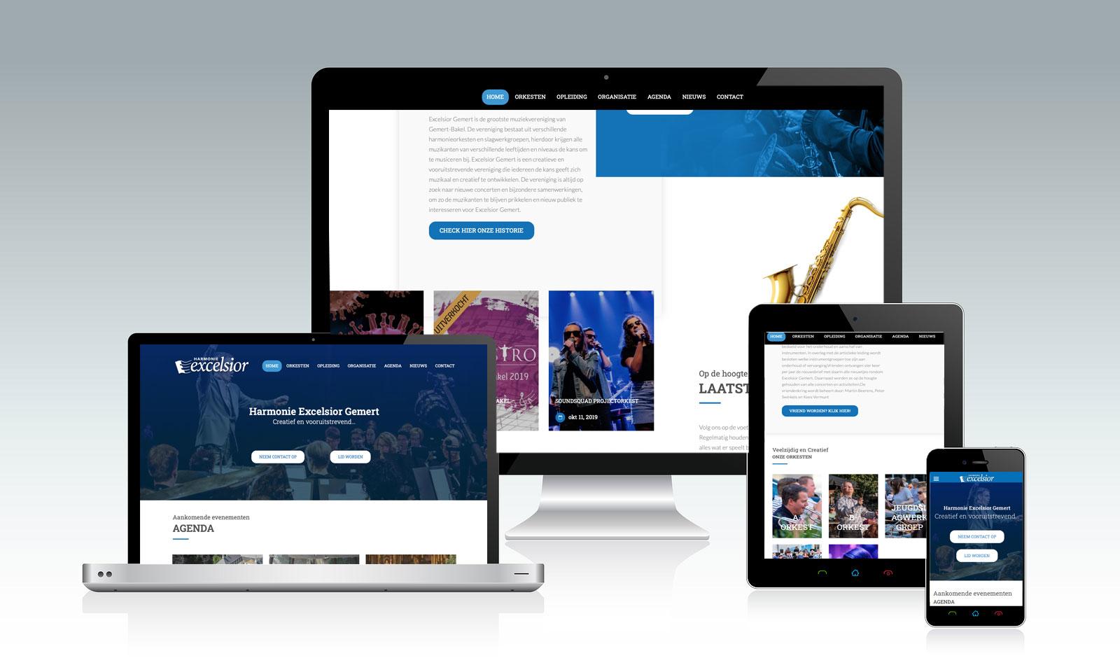 Website Harmonie Excelsior Gemert