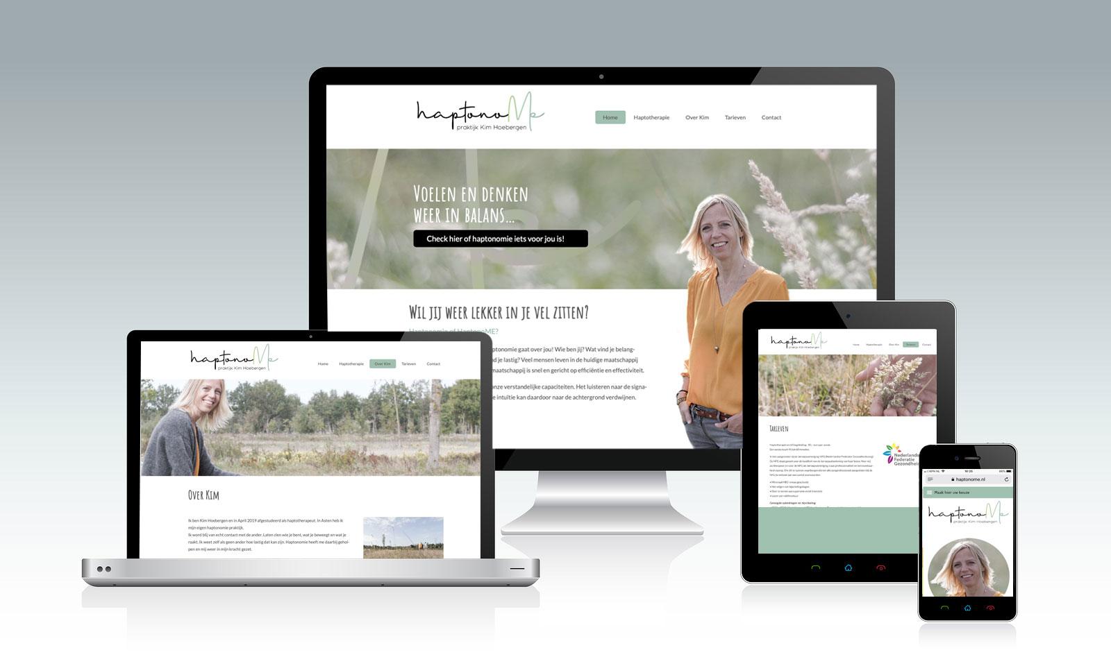 Website Haptonomie praktijk Kim Hoebergen