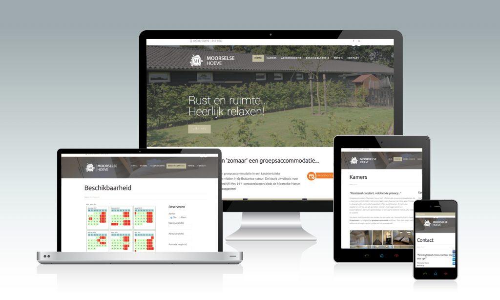 Website laten maken groepsaccommodatie-moorselse-hoeve-lierop