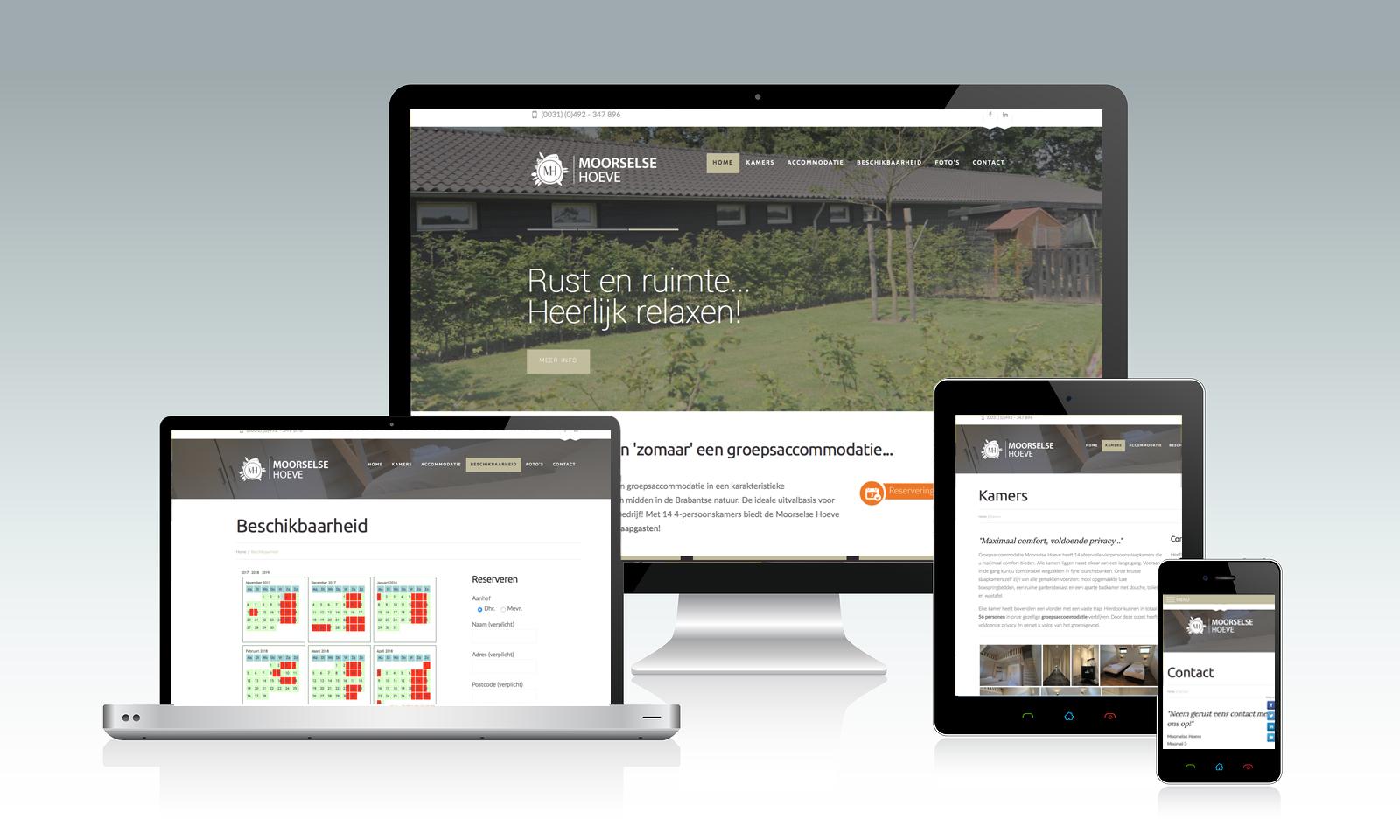 Website de Moorselse Hoeve