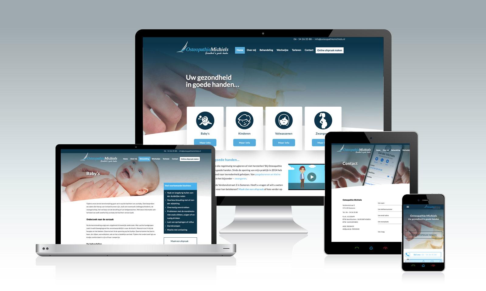 Website Osteopathie Michiels Someren