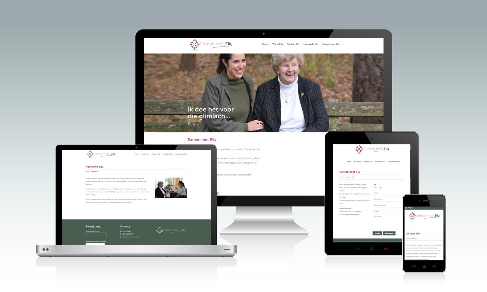 Website Samen met Elly