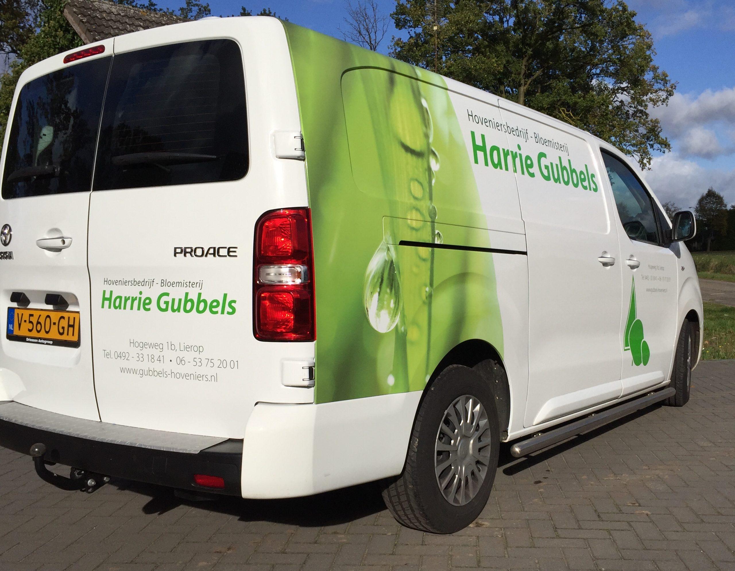 Busbelettering Hoveniersbedrijf Gubbels Lierop
