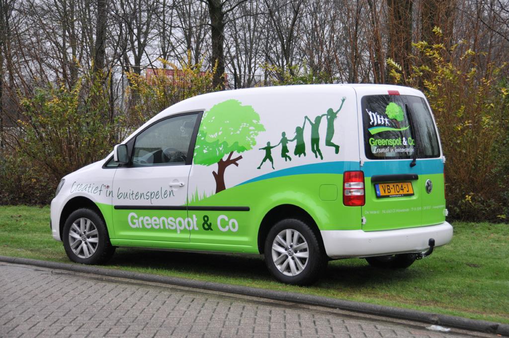 Bedrijfsauto belettering Greenspot & Co