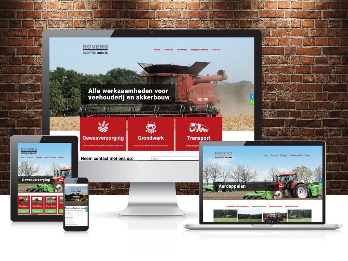 Website Rovers Loonbedrijf Boekel