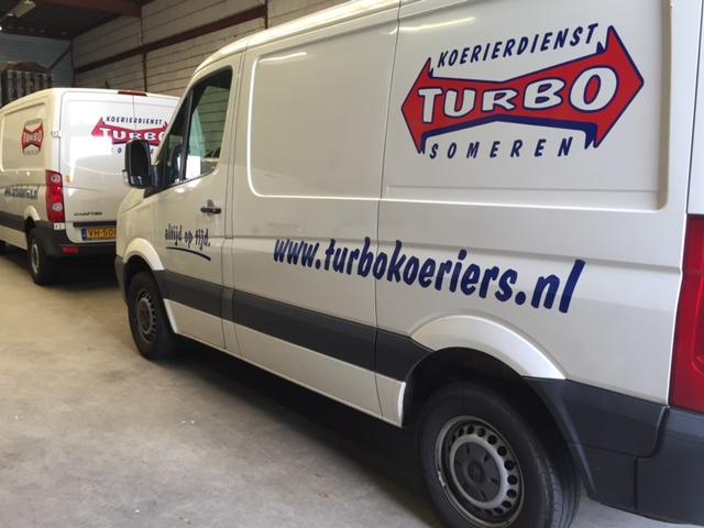 Wagenpark belettering Turbo Koeriers Someren