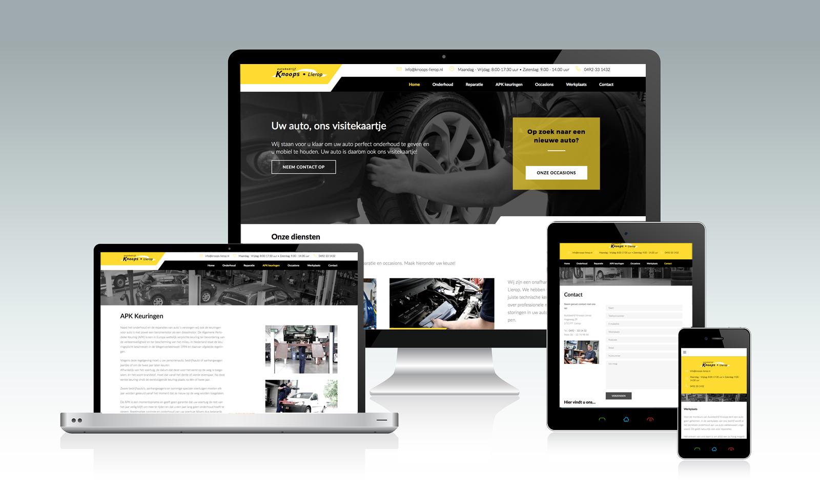 Website Autobedrijf Knoops Lierop