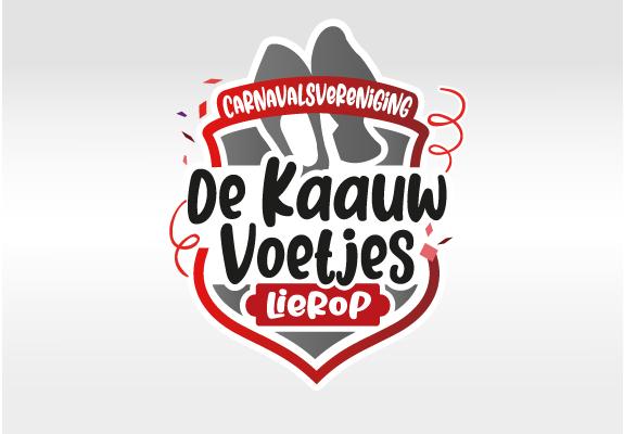 Logo ontwerp carnavalsvereniging de Kaauw Voetjes