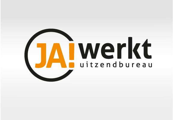 Logo ontwerp JA Werkt uitzendbureau