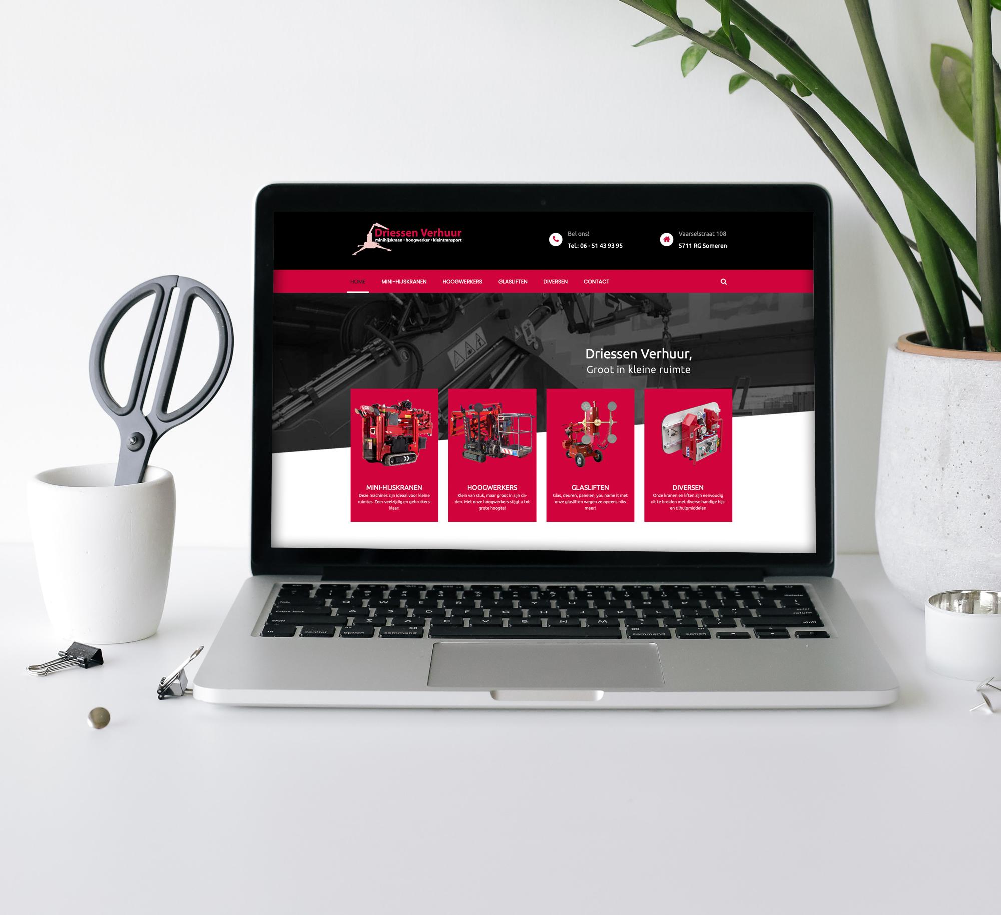 Website Driessen Verhuur