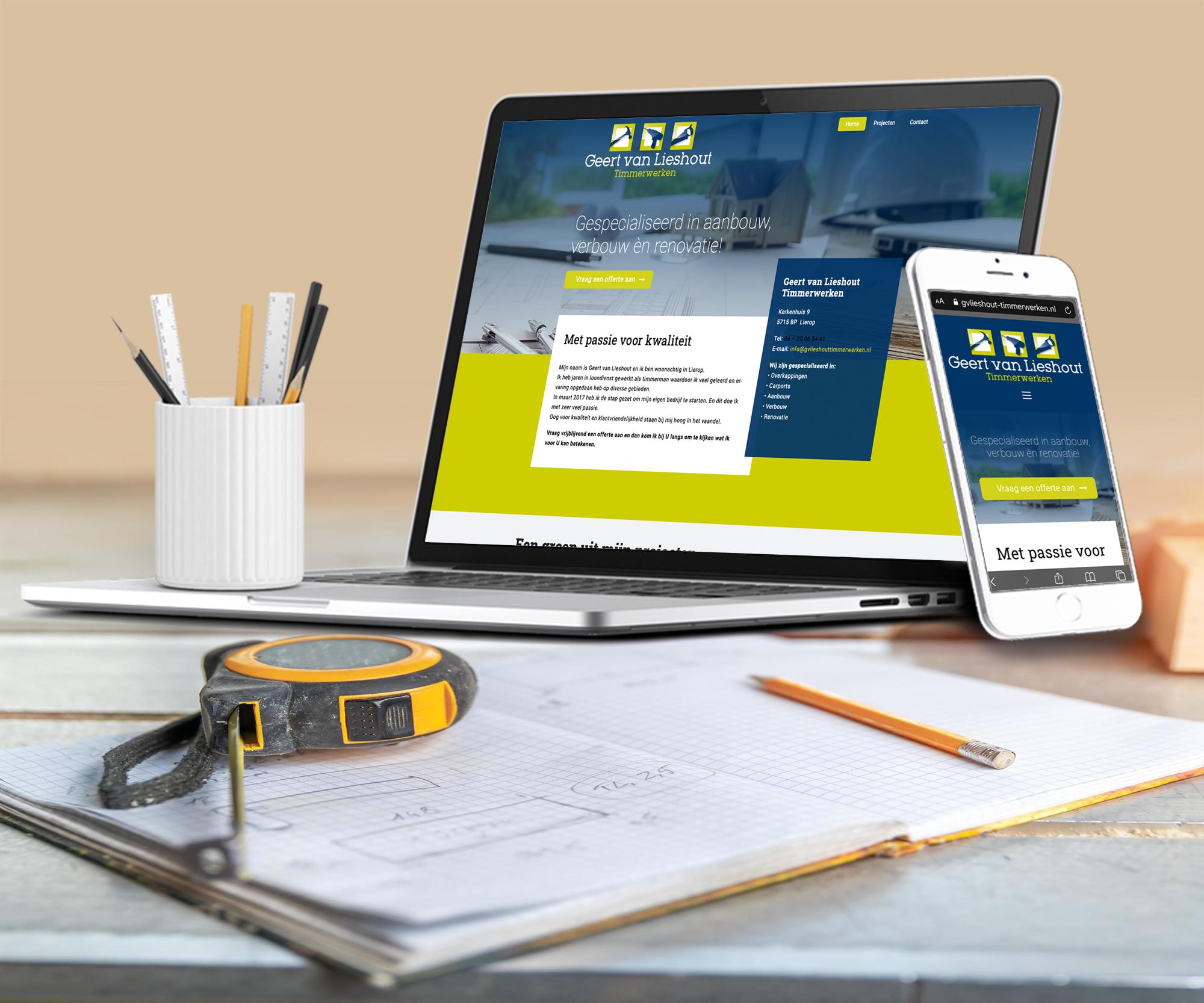 Website Timmerbedrijf Geert van Lieshout